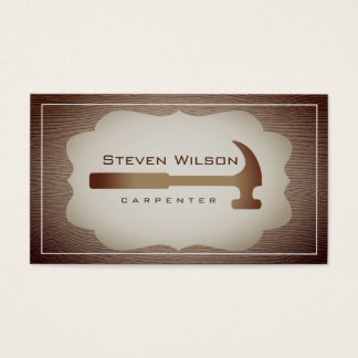 Carpenter Woodwork Professional Tool Rustic Wood Business Card