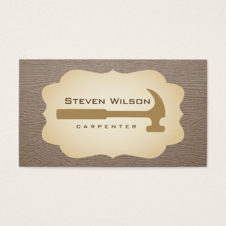 Carpenter Woodwork Professional Tool Wood Business Card