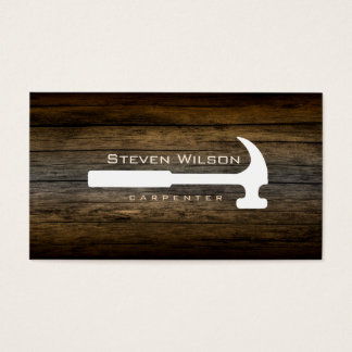 Carpenter Woodworker Professional Tool Rustic Wood Business Card