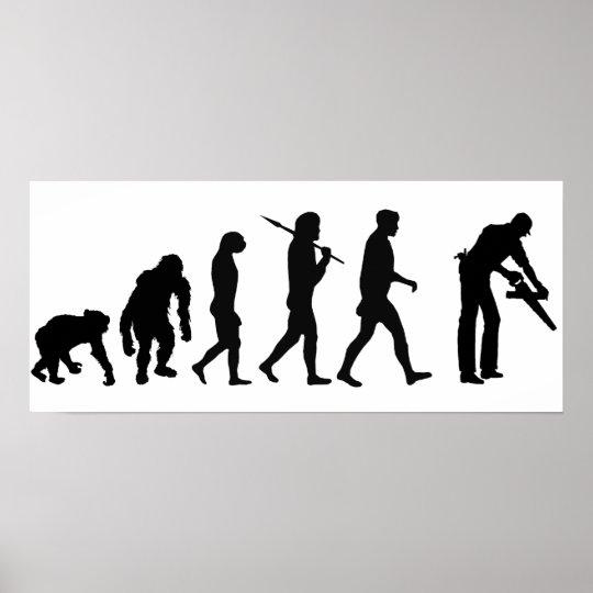 Carpenter woodworker set builder evolution poster