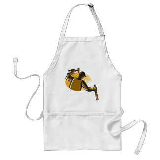 carpenter worker with hammer and chisel adult apron