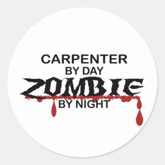 Carpenter Zombie Classic Round Sticker
