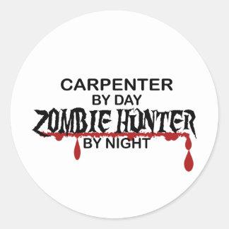 Carpenter Zombie Hunter Classic Round Sticker