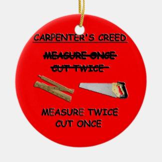 Carpenter's Creed Ornament