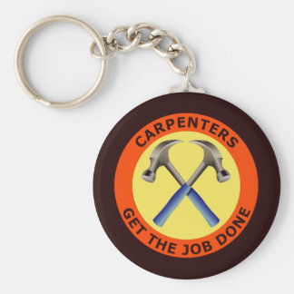 Carpenters Get The Job Done Basic Round Button Keychain