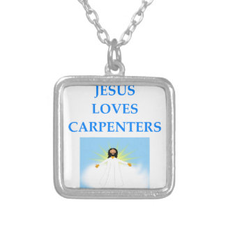 CARPENTERS SILVER PLATED NECKLACE