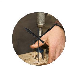 Carpenters Workshop Wall Clock