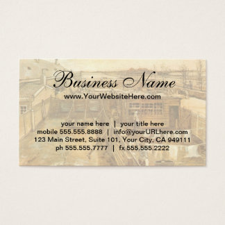 Carpenter's Yard and Laundry by Vincent van Gogh Business Card