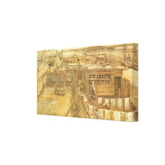Carpenter's Yard and Laundry by Vincent van Gogh Canvas Print