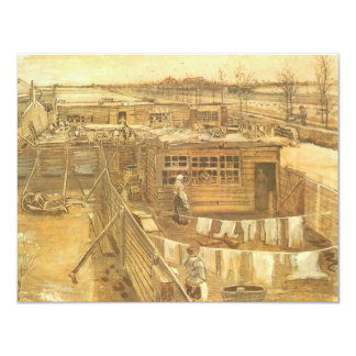 Carpenter's Yard and Laundry by Vincent van Gogh Card