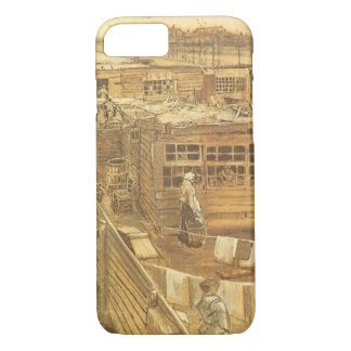 Carpenter's Yard and Laundry by Vincent van Gogh iPhone 7 Case