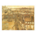 Carpenters Yard and Laundry, van Gogh, Vintage Art Postcard