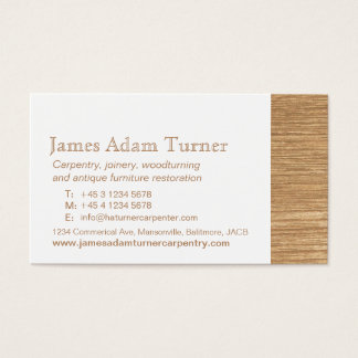Carpentry carpenter wood business card