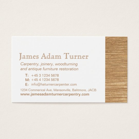 Carpentry carpenter wood business card zazzle carpentry carpenter wood business card reheart Image collections