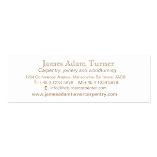 Carpentry carpenter wood slim business card