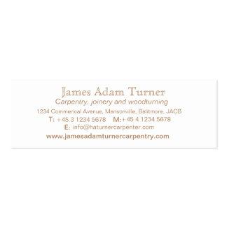 Carpentry carpenter wood slim business card