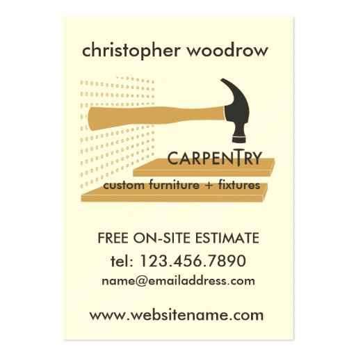 Custom furniture business card templates bizcardstudio carpentry carpenter woodworker business card colourmoves
