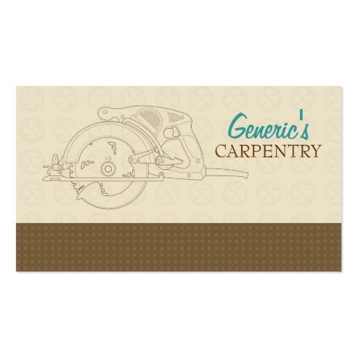 Carpentry Custom Business Card