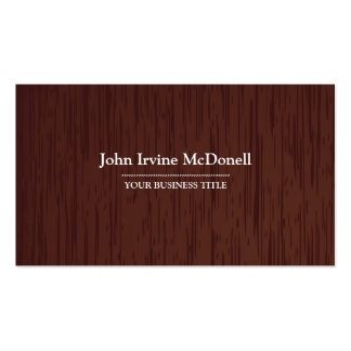 Carpentry - Dark Wood Texture Business Card
