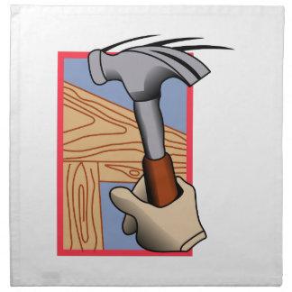 Carpentry logo napkin