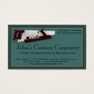 Carpentry Service Business Card