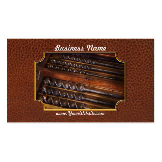 Carpentry - Tool - Archimedes little helper Business Card Template
