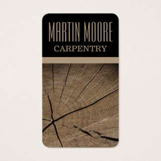 Carpentry wood work professional cover business card