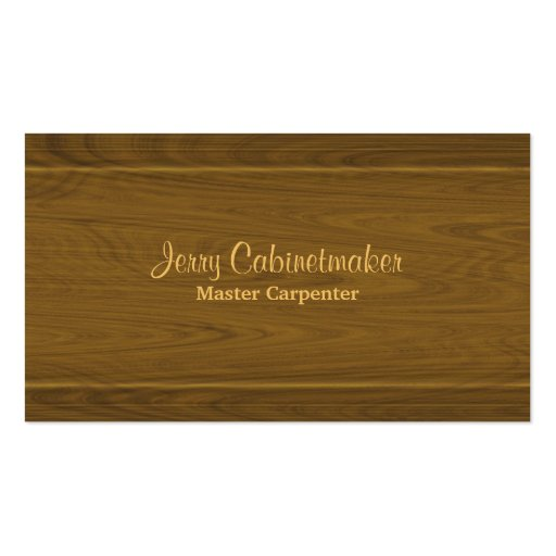 Carpentry wooden moulding pattern business card
