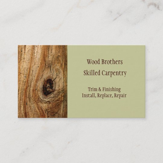 Carpentry woodwork business card template zazzle carpentry woodwork business card template flashek Image collections