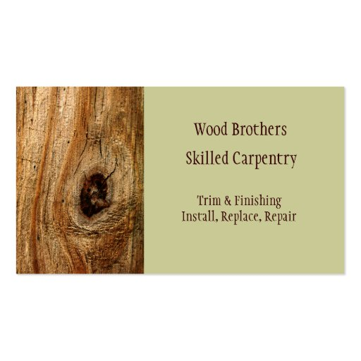 Woodwork business card 50000