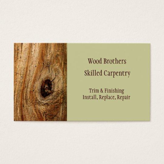Woodwork business cards kubreforic woodwork business cards accmission Gallery