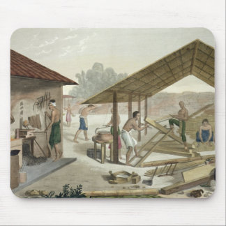 Carpentry Workshop in Kupang, Timor, plate 6 from Mouse Pad