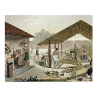 Carpentry Workshop in Kupang, Timor, plate 6 from Postcard