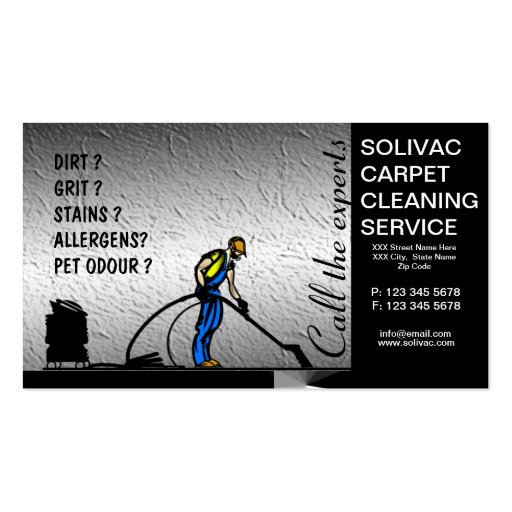 Carpet Cleaner Cleaning Business Card Zazzle