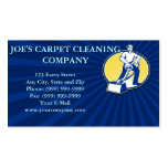 Carpet Cleaner Vacuum Cleaning Machine Retro Pack Of Standard Business Cards