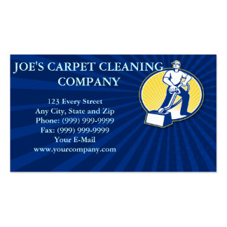 Carpet Cleaner Vacuum Cleaning Machine Retro Double-Sided Standard Business Cards (Pack Of 100)