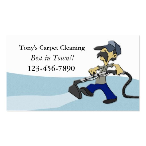 Carpet Cleaning Business Card Zazzle