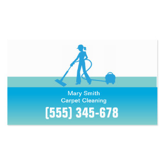 Carpet Cleaning Business Card Template