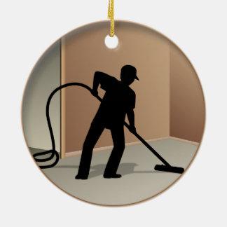 Carpet Cleaning Ceramic Ornament