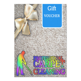 Carpet Cleaning Service Gift Voucher Card