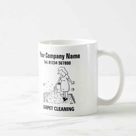 Carpet Cleaning Services Cartoon Mug