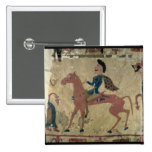 Carpet depicting a mounted warrior 2 inch square button
