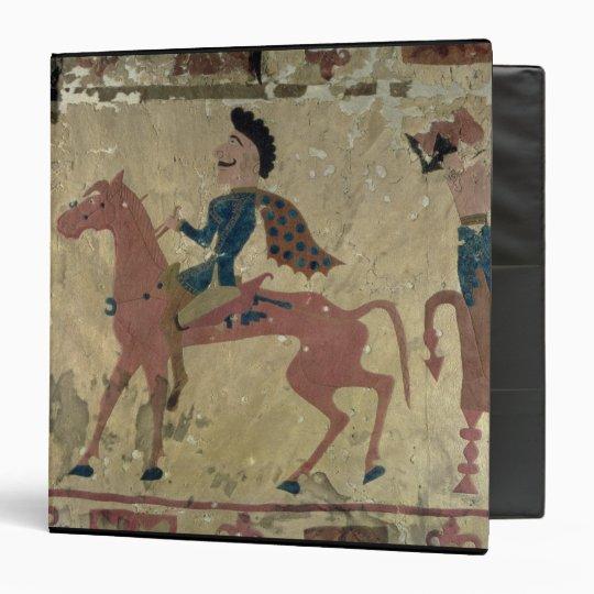 Carpet depicting a mounted warrior binder