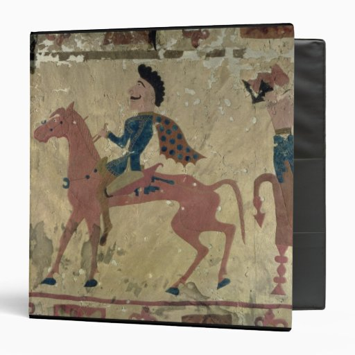 Carpet depicting a mounted warrior binders