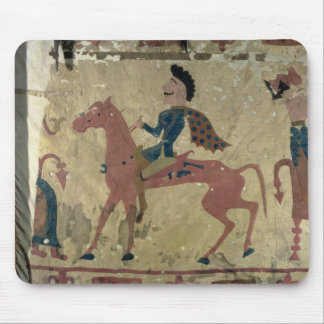 Carpet depicting a mounted warrior mouse pads
