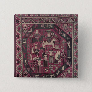 Carpet depicting knights button