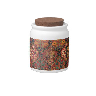 Carpet design candy jar