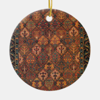 Carpet design Double-Sided ceramic round christmas ornament