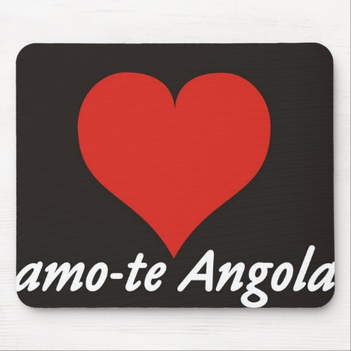 Carpet For The Rat I Love You Angola Of Heart Mouse Pad