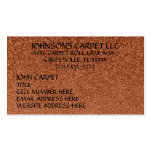 Carpet Installation Company Business Card